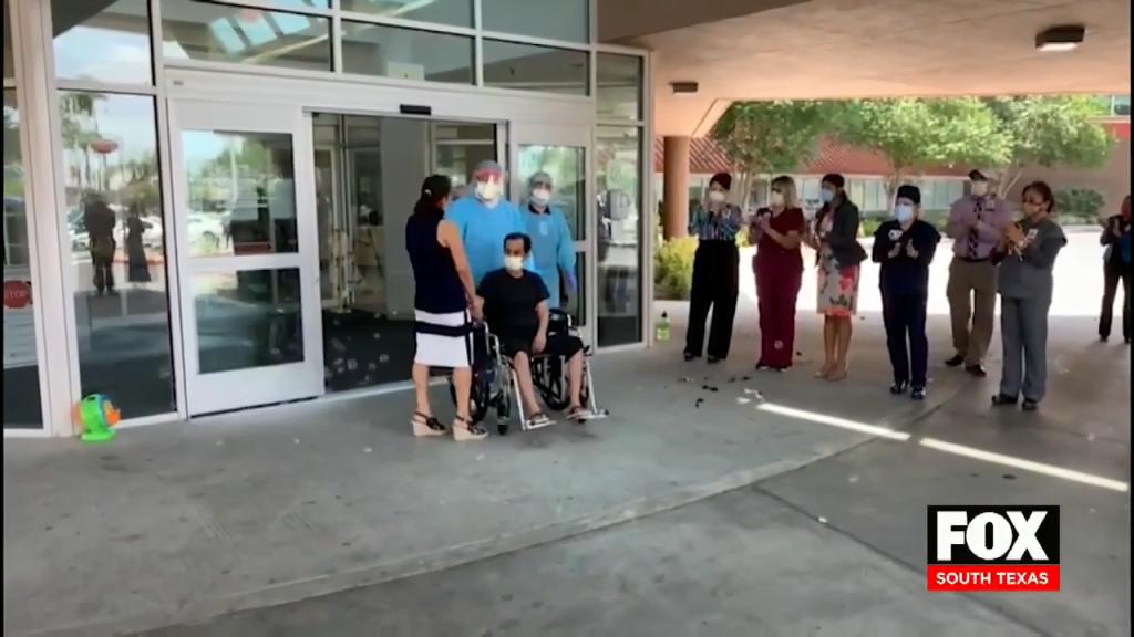 Medical Staff Celebrate The Release of COVID-19 Survivor
