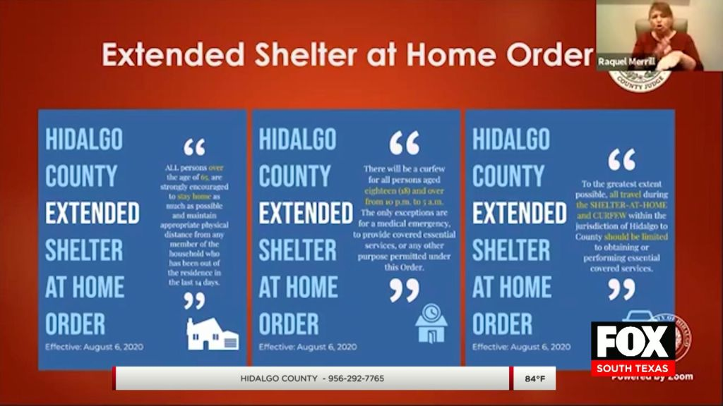 Hidalgo Co. Stay-At-Home Order Extended Until Aug. 21