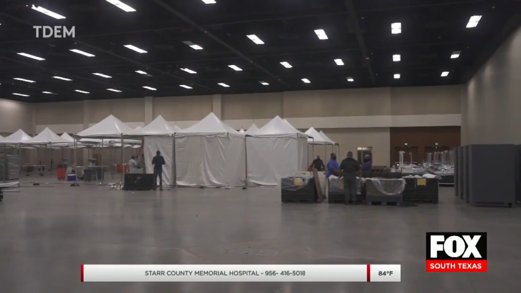 Mcallen Convention Center Expected To Open Tuesday To Start Treating COVID-19 Patients