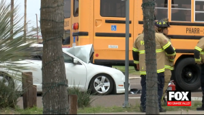 Driver Hospitalized Following Crash Involving A School Bus